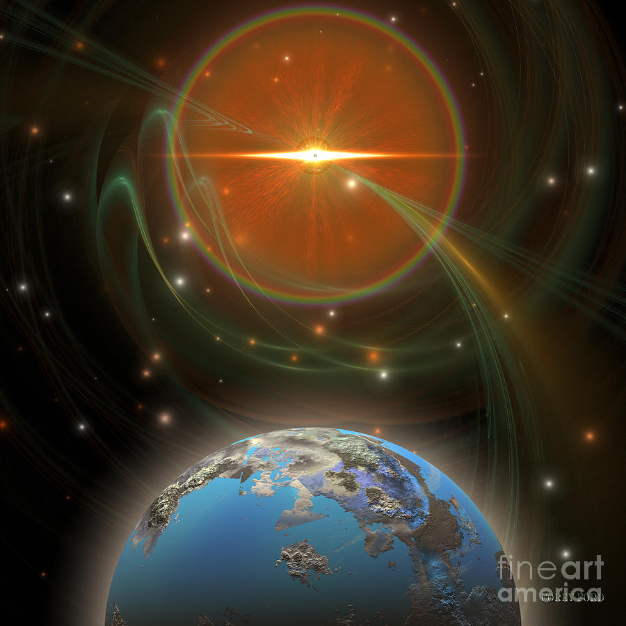 Science Fiction Painting - Solar Message by Corey Ford