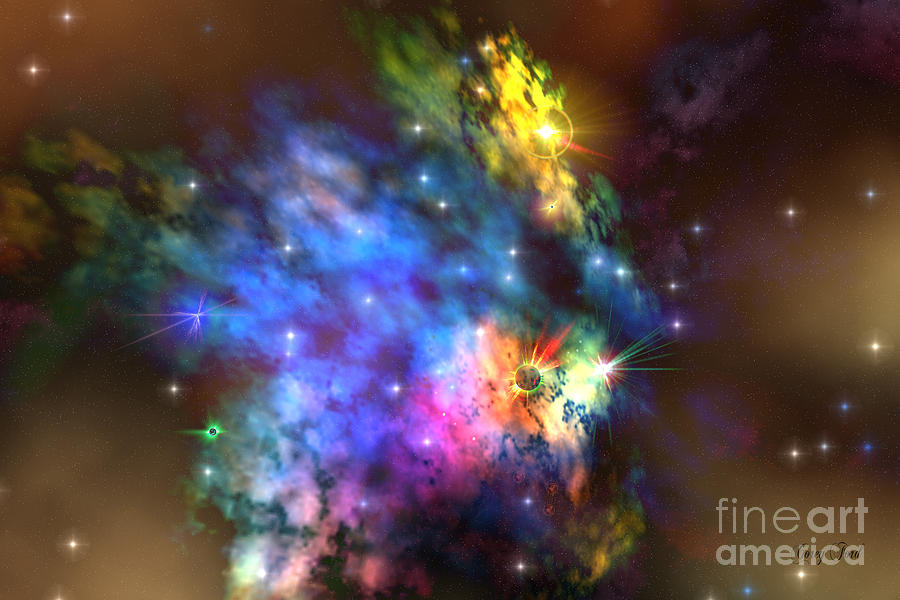 Science Fiction Painting - Solaris Nebula by Corey Ford