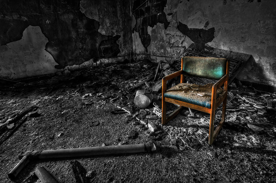 Chair Photograph - Sole Survivor by Evelina Kremsdorf