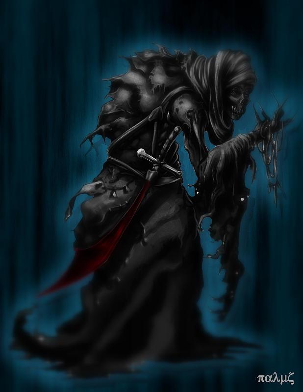 Sword Drawing - Solitiary Reaper by Rahul Chakraborty