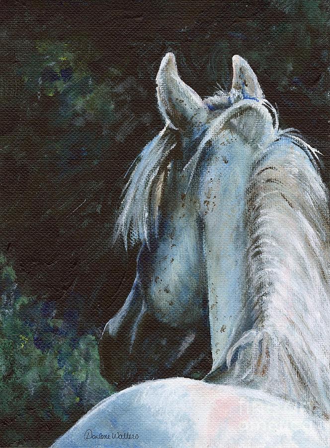 Horse Painting - Solitude by Darlene Watters
