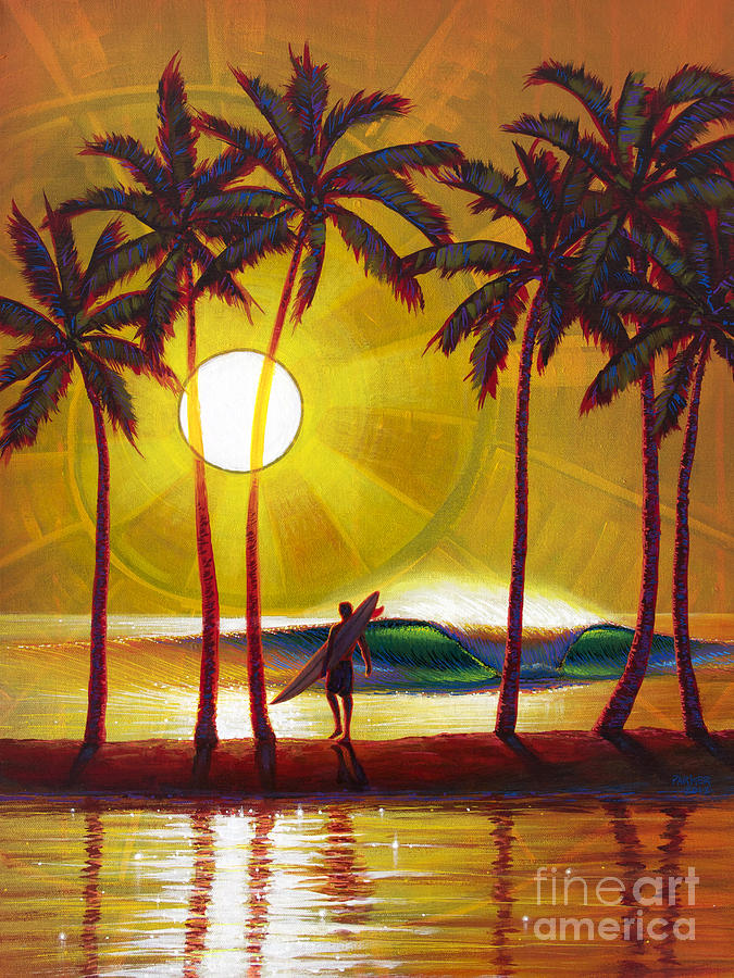 Surfer Painting - Solitude by Patrick Parker