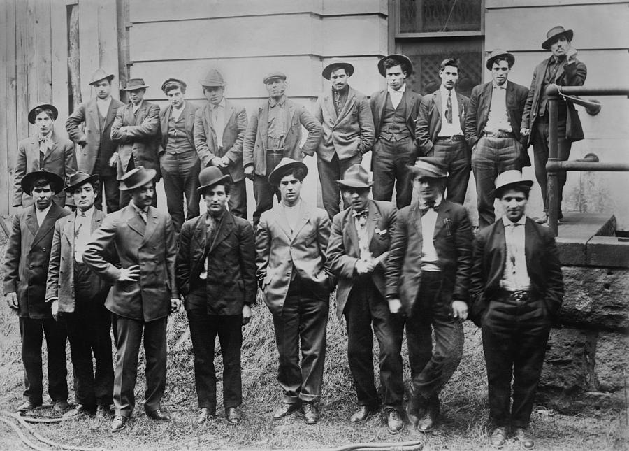 History Photograph - Some Of The 100 Italian And Slavic Coal by Everett