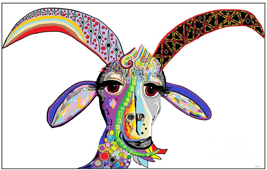 Goat Painting - Somebody Got Your Goat? by Eloise Schneider