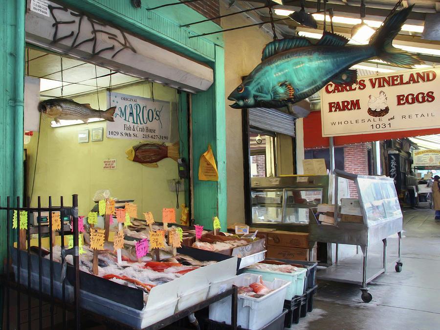 Fish Market Photograph - Somethings Fishy by Lori Deiter