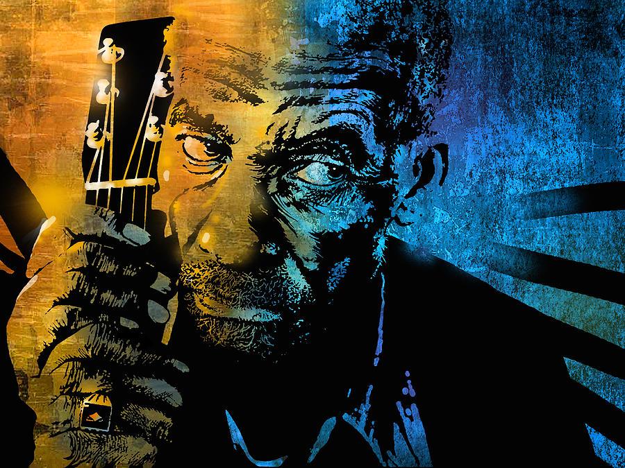 Blues Painting - Son Thomas by Paul Sachtleben