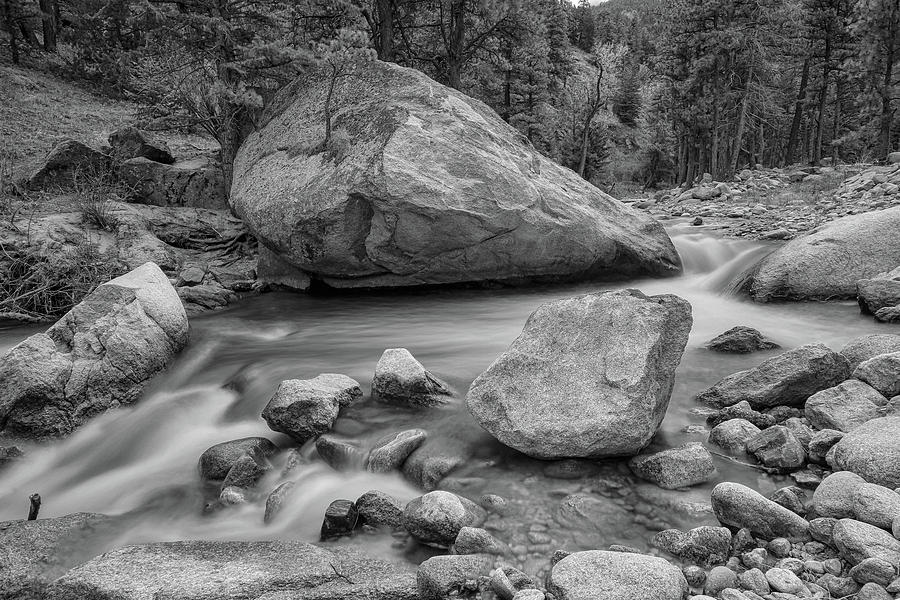 Soothing Colorado Monochrome Wilderness Photograph