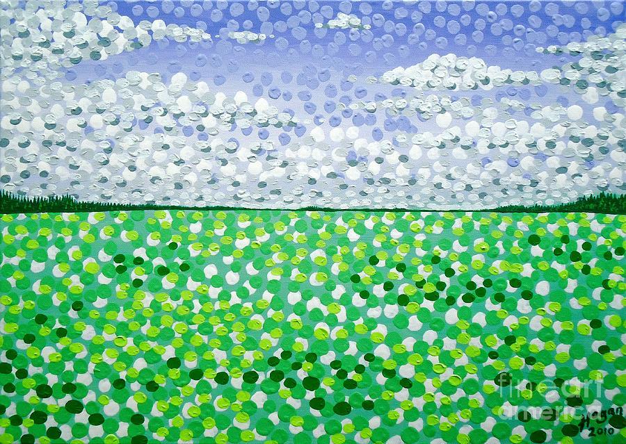 Landscapes Painting - Sophias Landscape by Alan Hogan