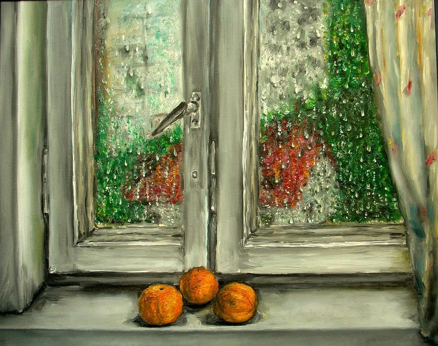 Rain Painting - Sound Of Rain  Oil Painting by Natalja Picugina