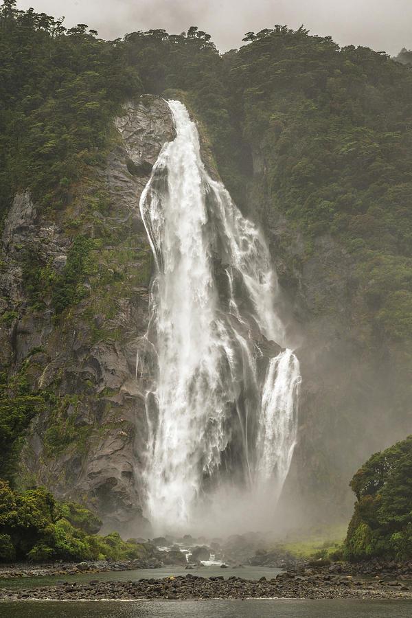 South Island Waterfall Photograph
