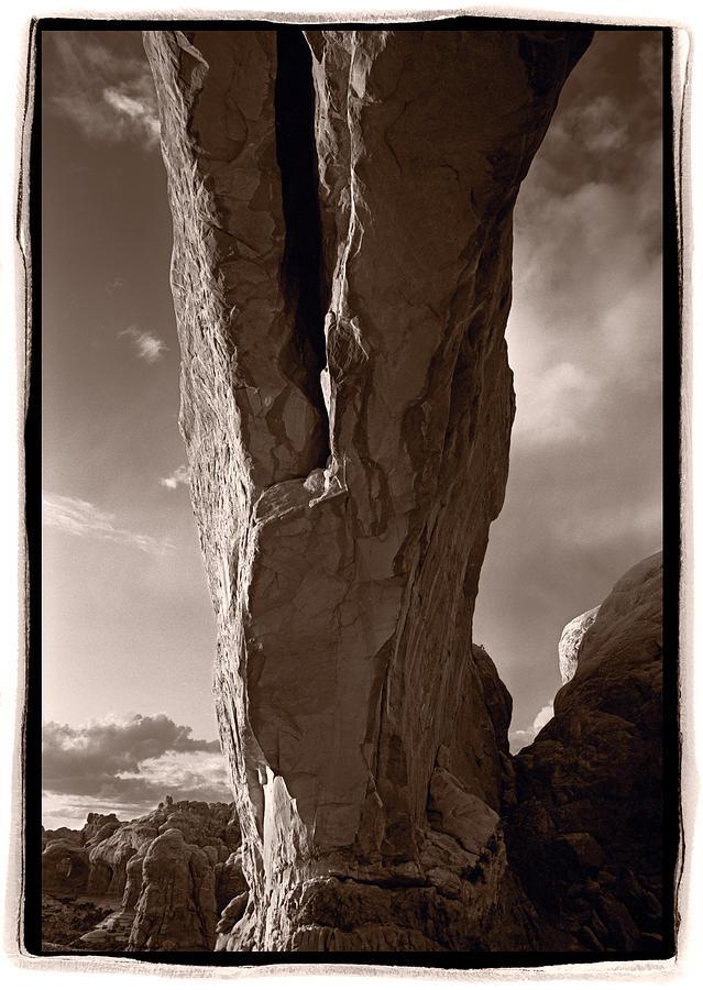 Arch Photograph - South Window Arch Arches National Park by Steve Gadomski