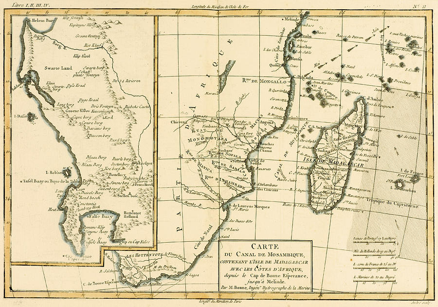 Maps Drawing - Southern Africa by Guillaume Raynal