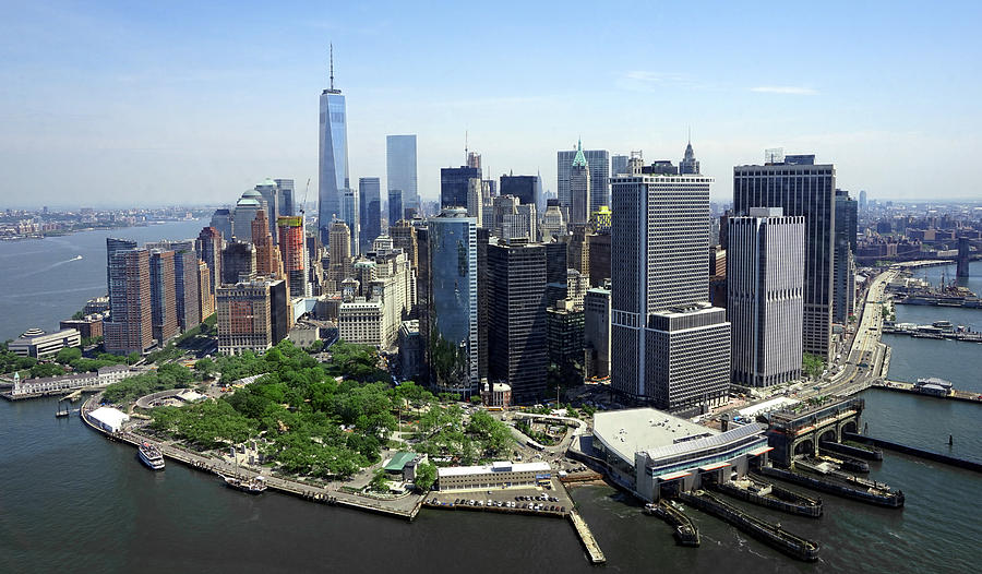 Southern Tip Of Manhattan Island N Y C Photograph By