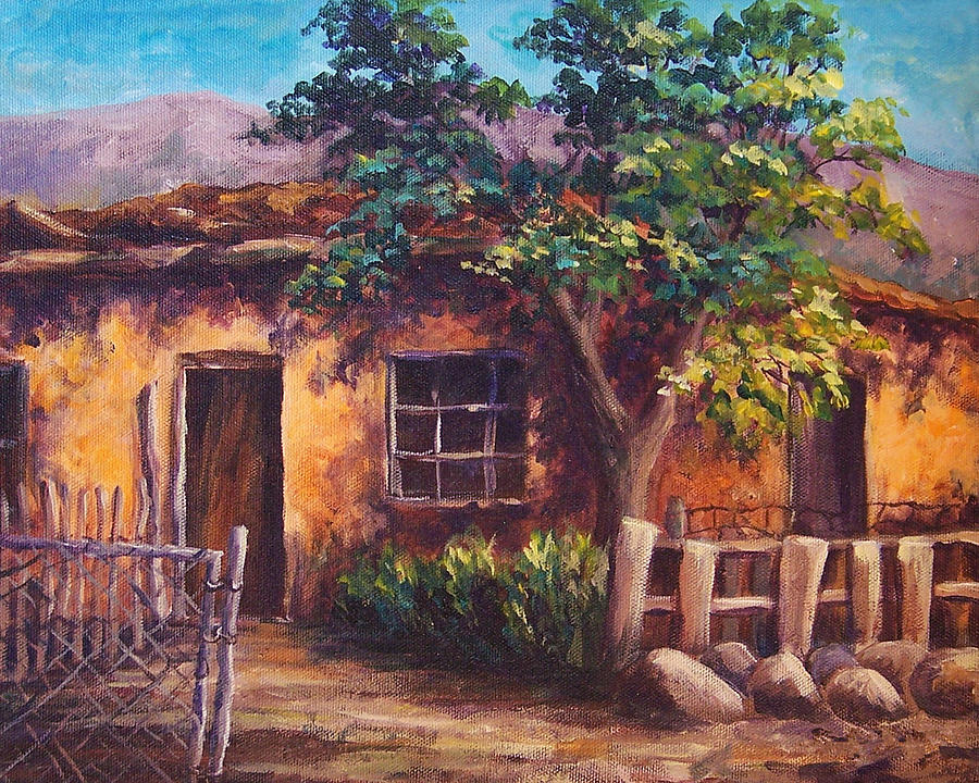 Southwest Adobe Painting By Candy Mayer