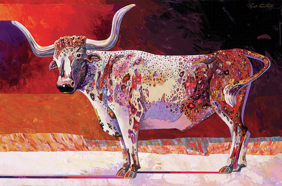 Southwest Longhorn Painting