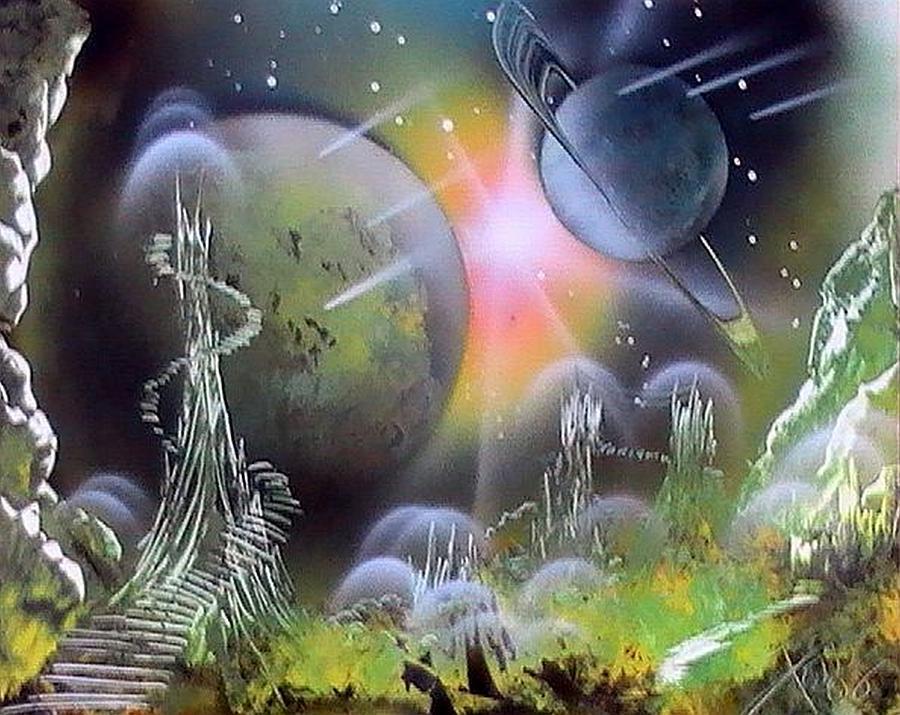 Spray Paint Space Art Video