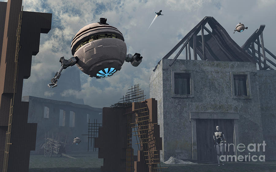 Home Digital Art - Space Probes And Androids Survey An by Mark Stevenson