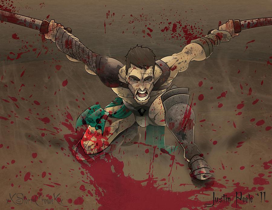 Spartacus Digital Art - Spartacus by Justin Peele