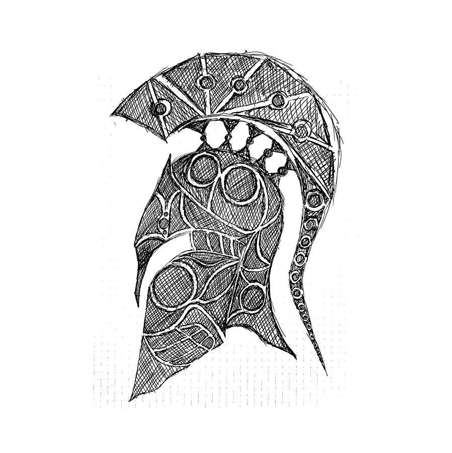Spartan Helmet Drawing - Bing images