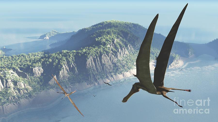 Earth Digital Art - Species From The Genus Anhanguera Soar by Walter Myers