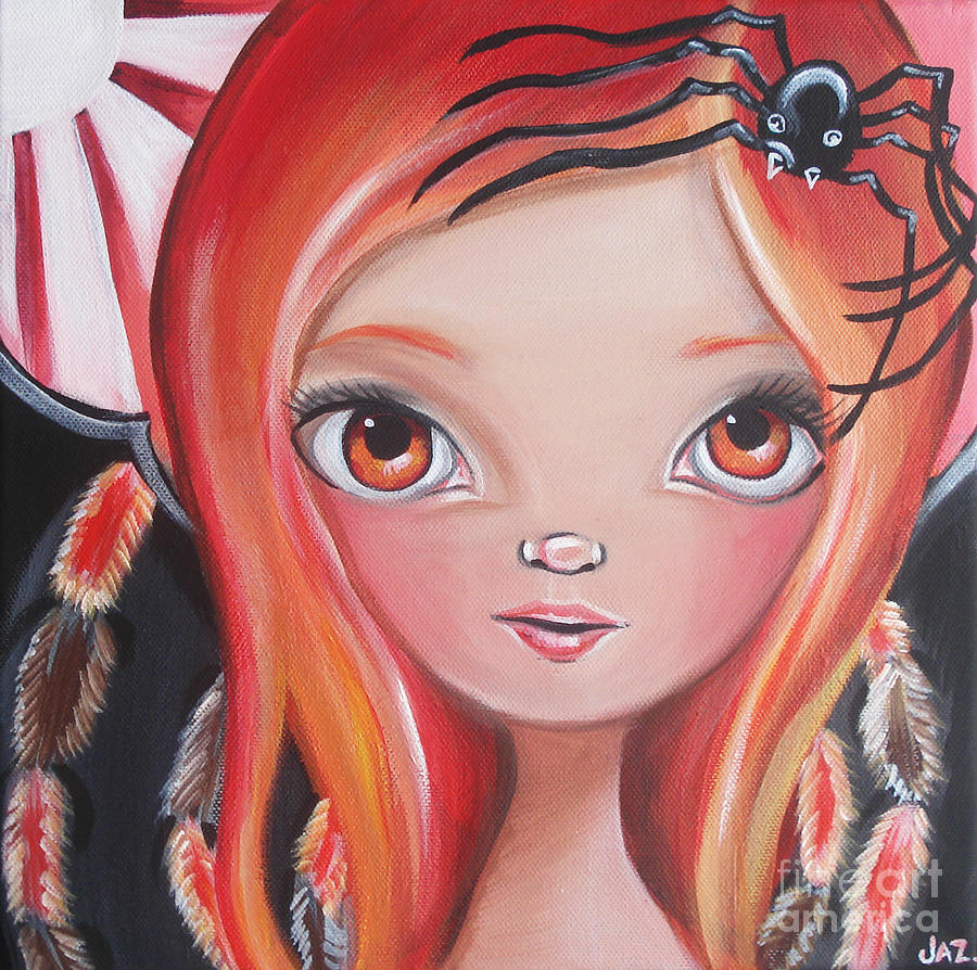 Original Painting - Spider Fairy by Jaz Higgins