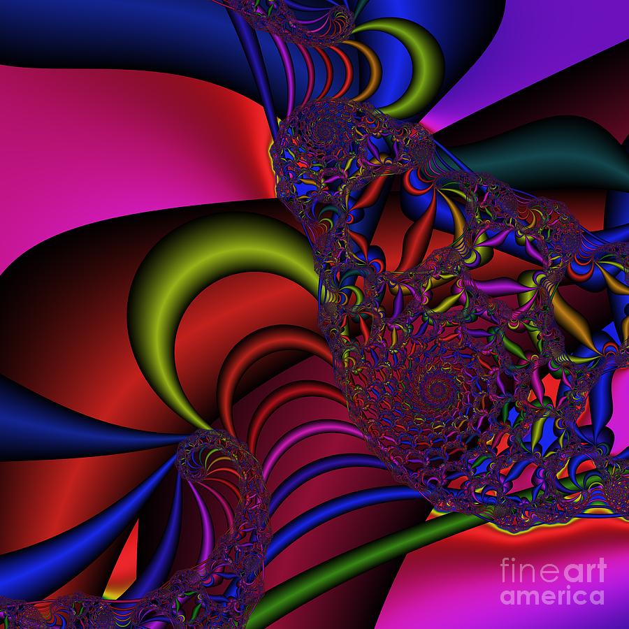 Abstract Digital Art - Spider Web 177 by Rolf Bertram
