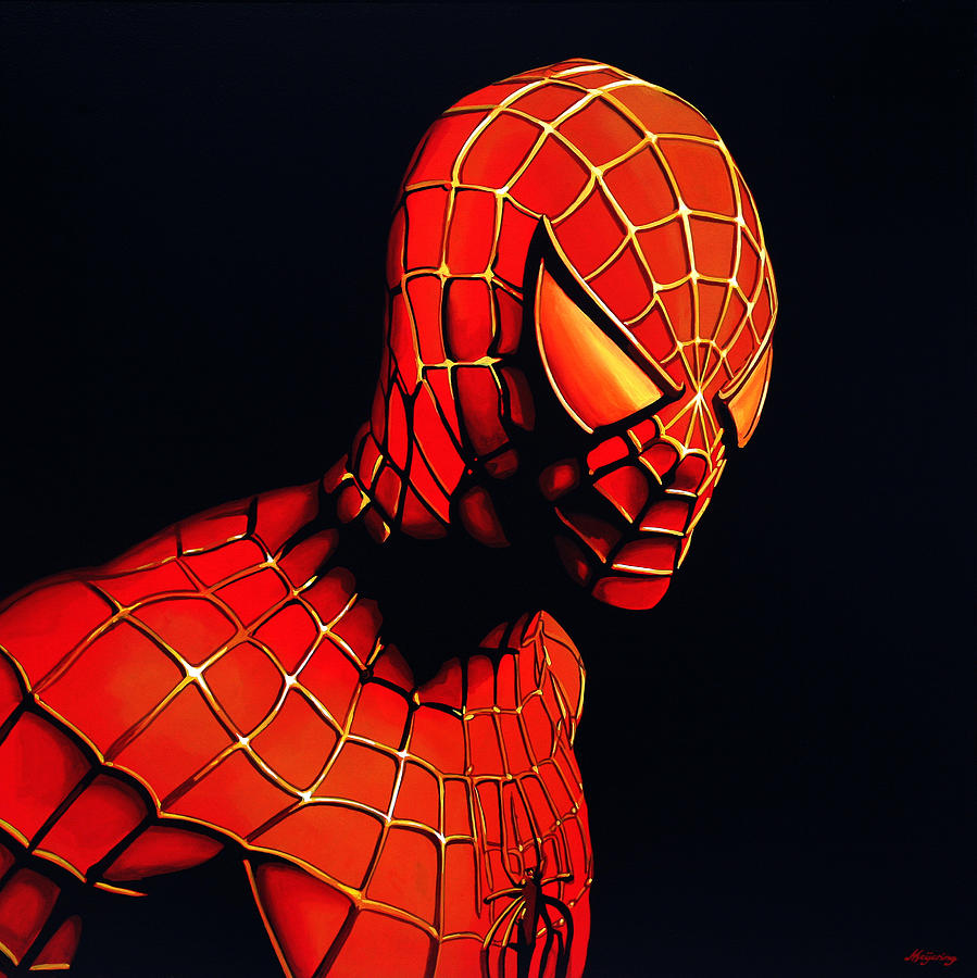 Spiderman Painting - Spiderman by Paul Meijering