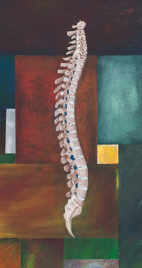 Spine Painting - Spinal Column by Sara Young