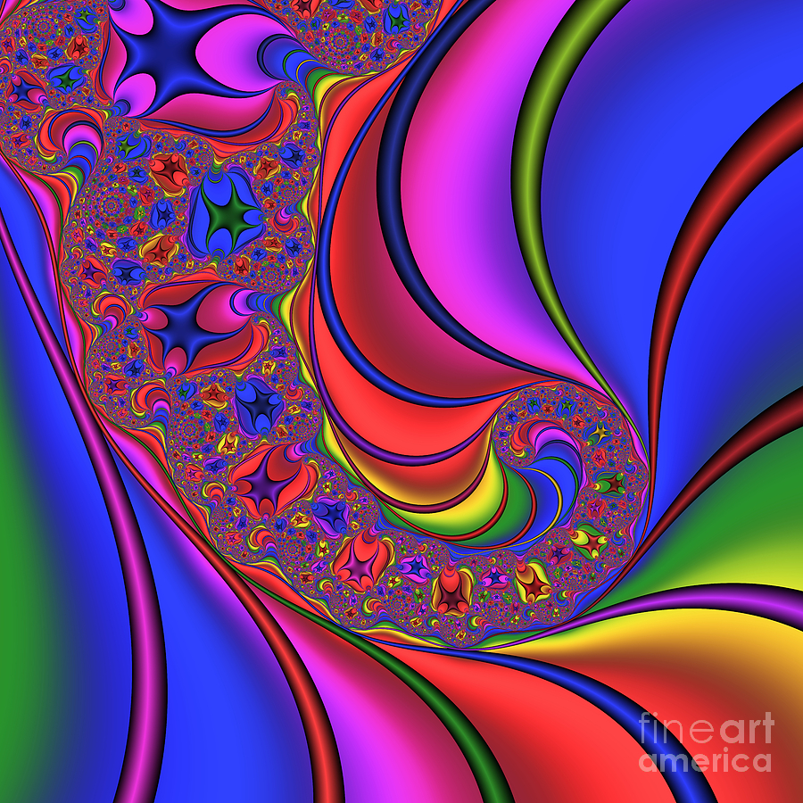 Abstract Digital Art - Spinning 182 by Rolf Bertram