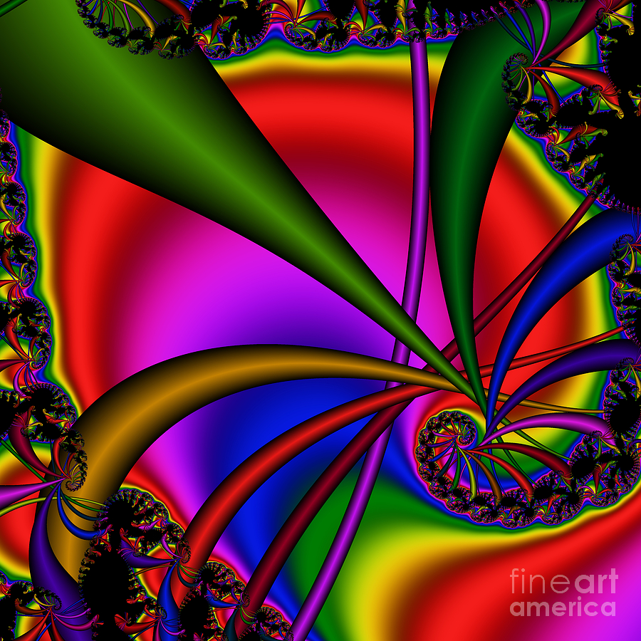 Abstract Digital Art - Spiral 123 by Rolf Bertram