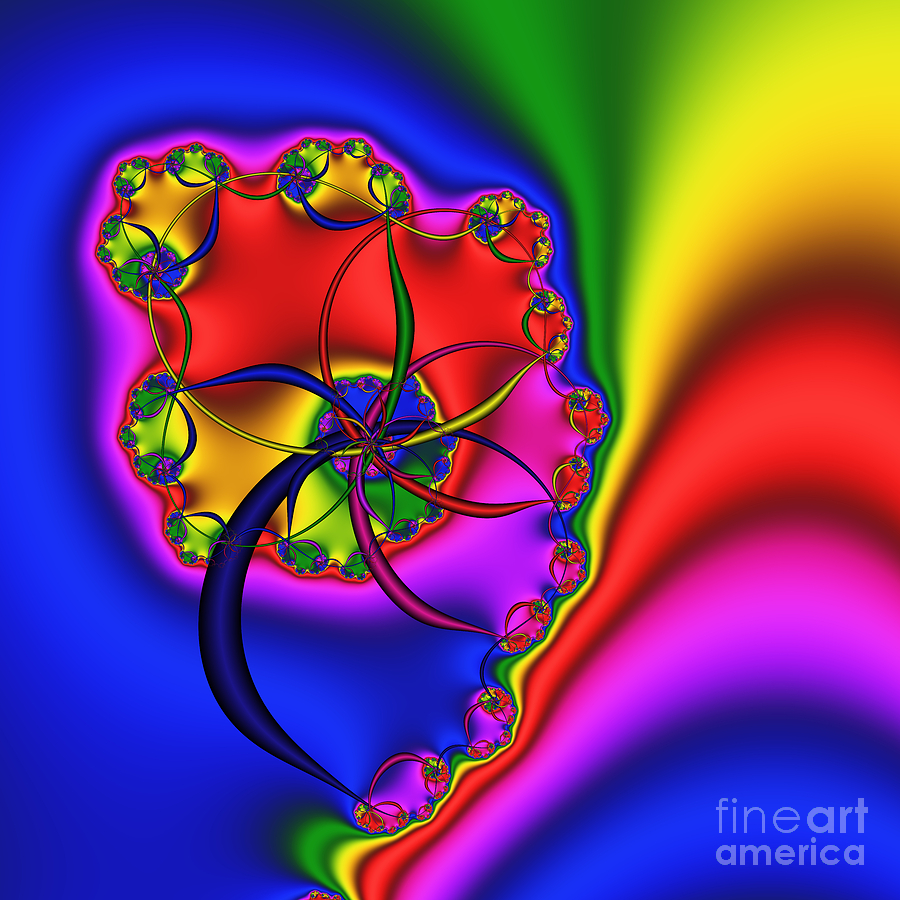 Abstract Digital Art - Spiral 141 by Rolf Bertram