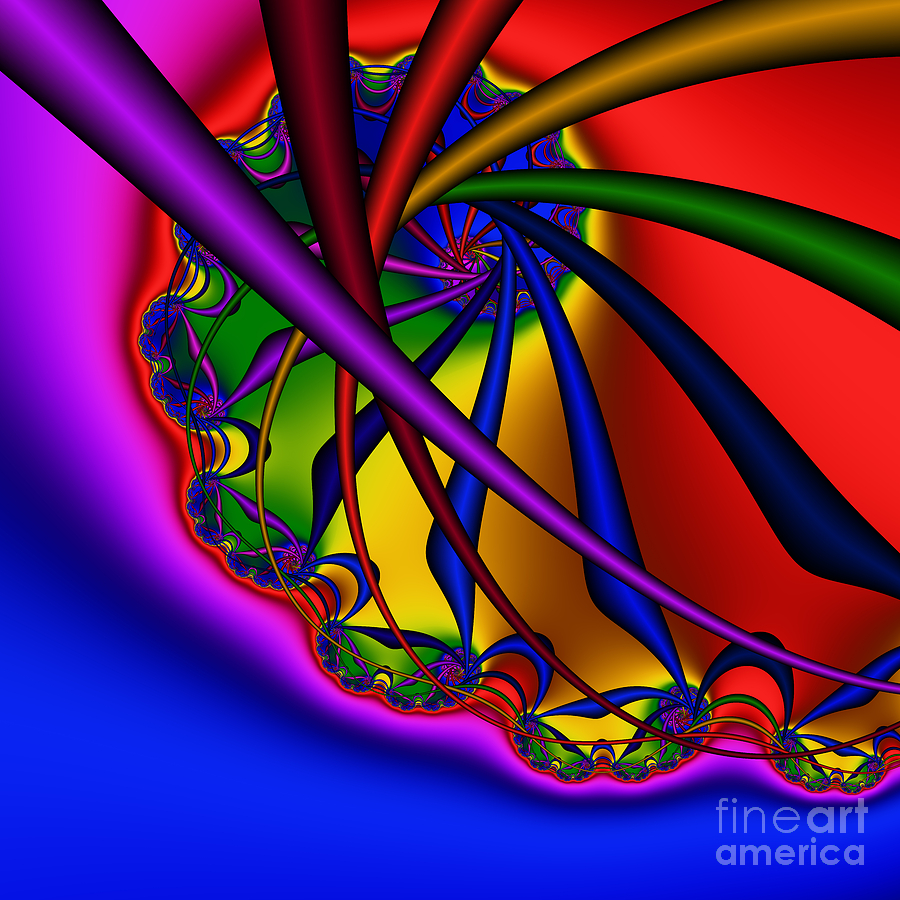 Zen Digital Art - Spiral 217 by Rolf Bertram