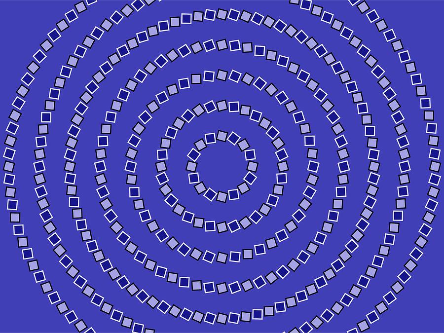 Optical Illusion Digital Art - Spiral Circles by Michael Tompsett