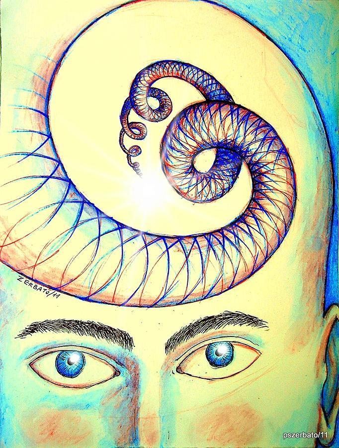 Spiral Of Knowledge Digital Art - Spiral Of Knowledge by Paulo Zerbato