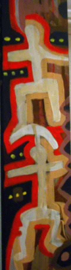 Spiritual  Totem -two Culturals Painting