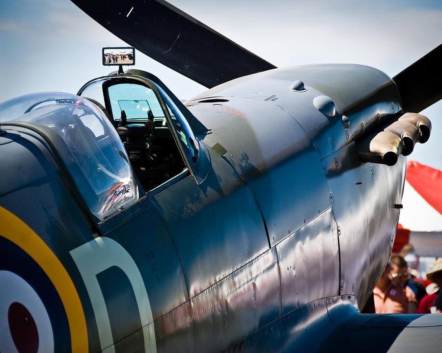British Spitfire Photograph - Spitfire by Eric Miller