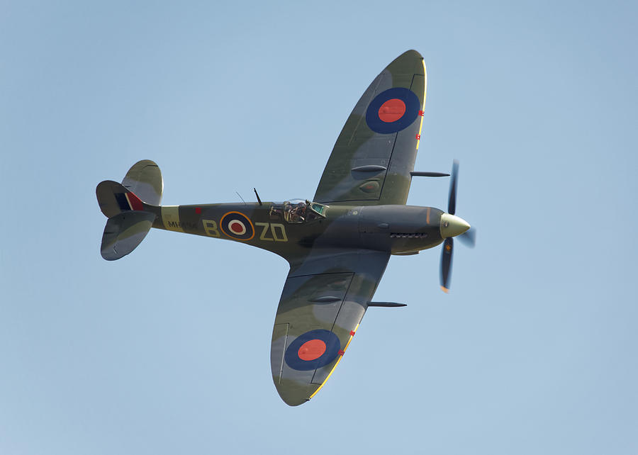 Supermarine Photograph - Spitfire Mk9 by Ian Merton