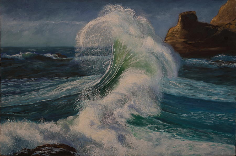 Seascape Painting - Splash by Rosencruz  Sumera