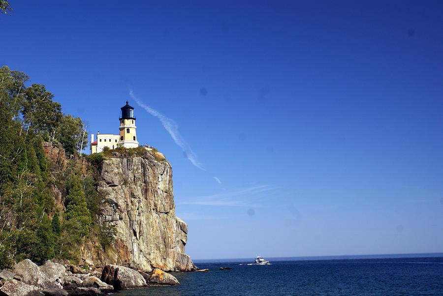 Split Rock Lighthouse Photograph - Split Rock 1 by Marty Koch