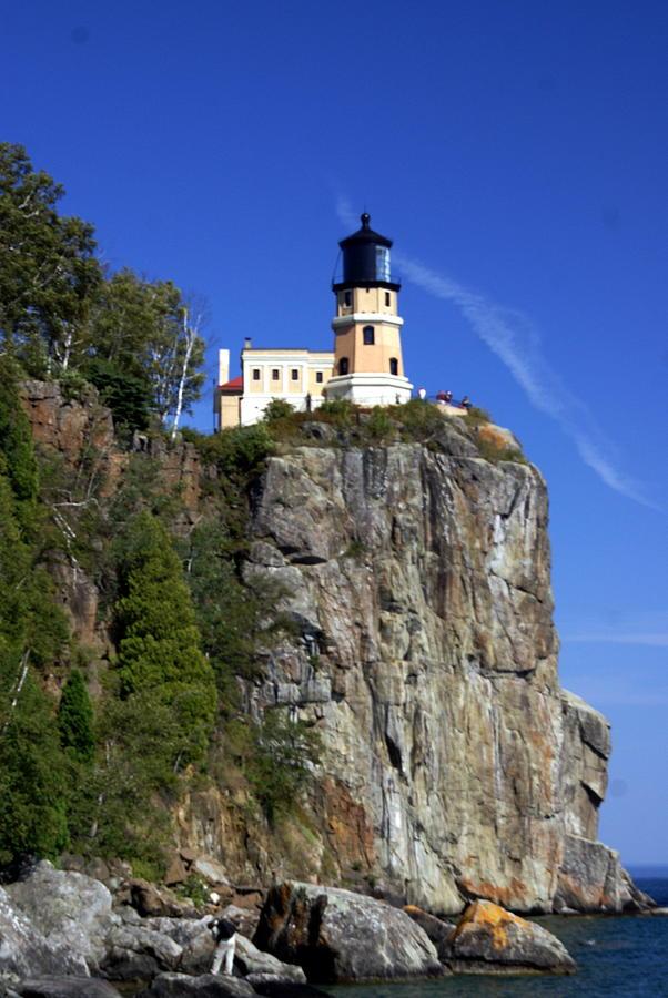 Lighthouse Photograph - Split Rock 2 by Marty Koch