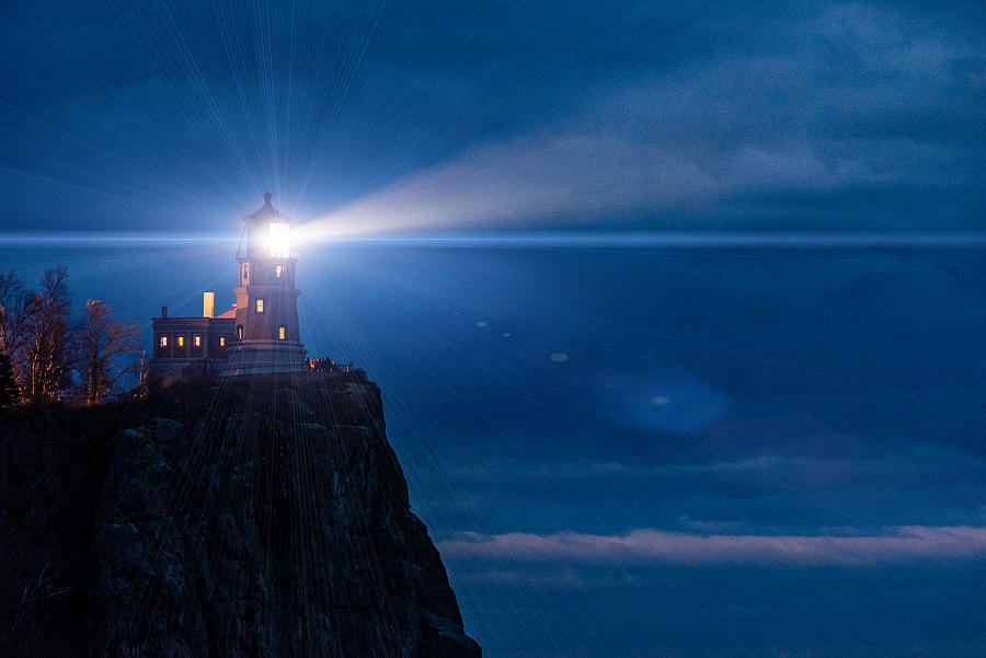 Lake Superior Photograph - Split Rock Beacon by Mark Goodman