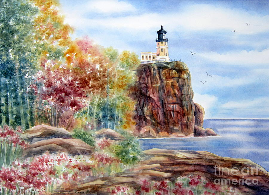 Split Rock Lighthouse Painting - Split Rock Lighthouse by Deborah Ronglien