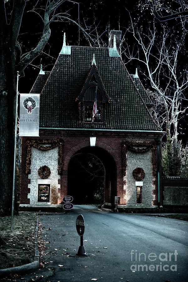 Spooky Biltmore Main Gate Entrance Photograph