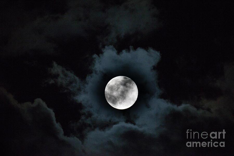 Spooky Moon Photograph