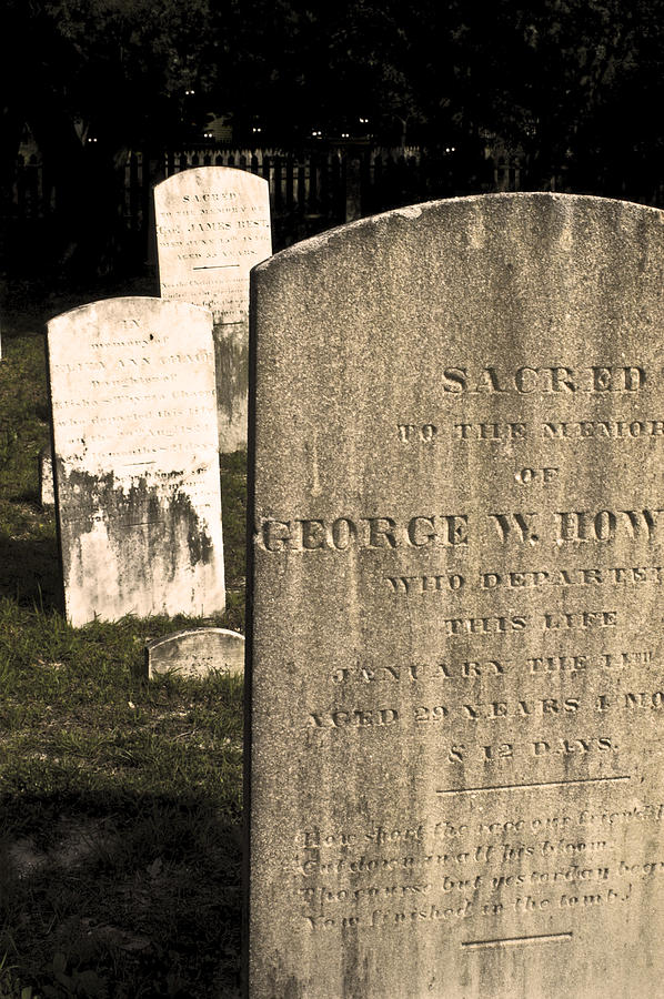 Spooky Photograph - Spooky Tombstones. by Robert Ponzoni