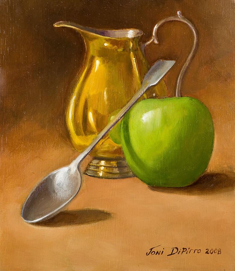 Spoon And Creamer Painting