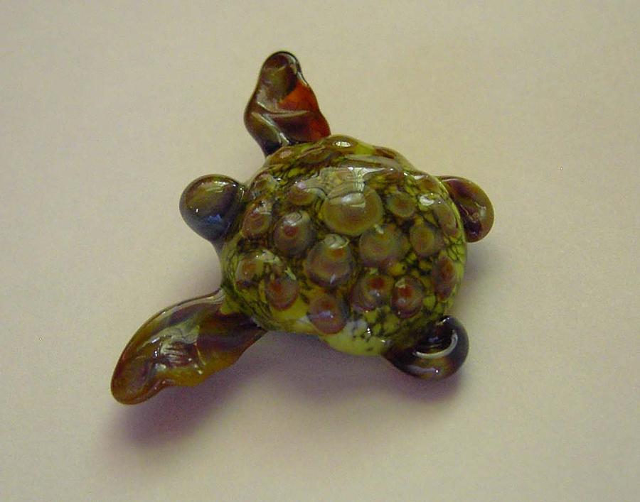 Turtle Sculpture - Spot The Water Turtle by Cecilia Alvarez