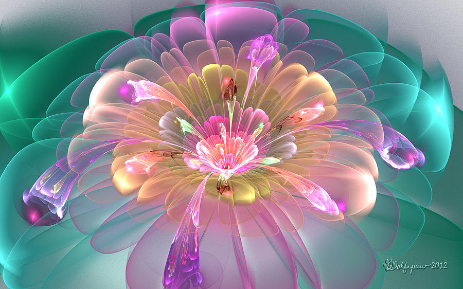 Abstract Digital Art - Spring Bloom by Peggi Wolfe