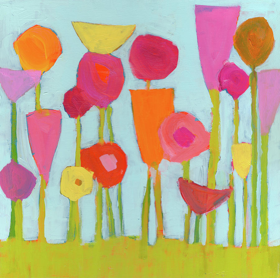 Flowers Painting Painting - Spring Blooms by Laurie Breen