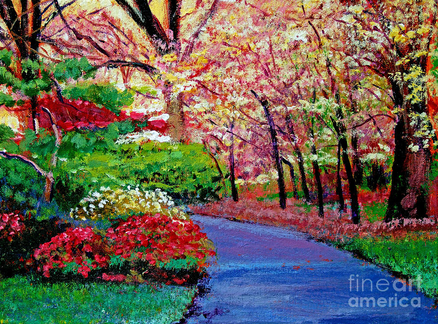 Pathways Painting - Spring Blossoms by David Lloyd Glover
